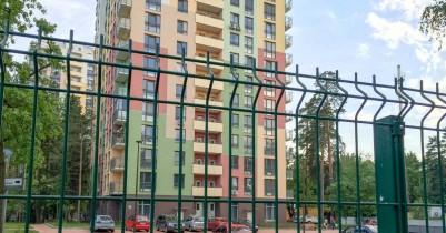 Забор для придомой территории из сетки