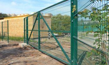 Ворота из сетки в ПВХ покрытии