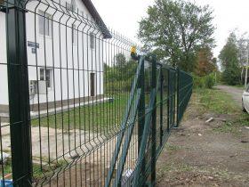 Раздвижные ворота из сварной сетки фото