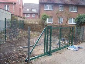 фото откатных ворот из сварной сетки