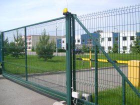 Откатные ворота из сетки фото