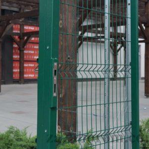 Сеточный забор из сетки 3D фото