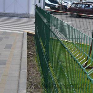 Сварная сетка для заборо цинк + ПВХ фото