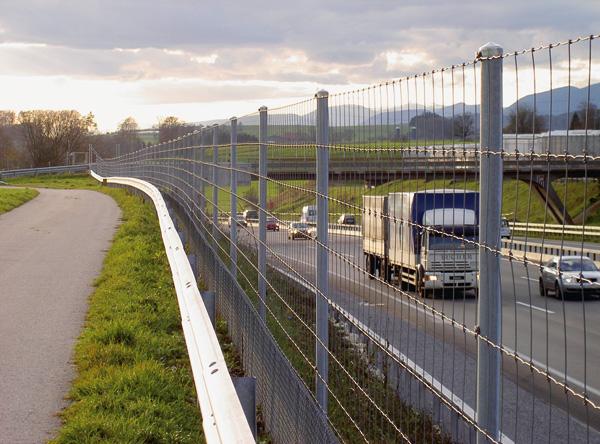 ограждение автомагистрали