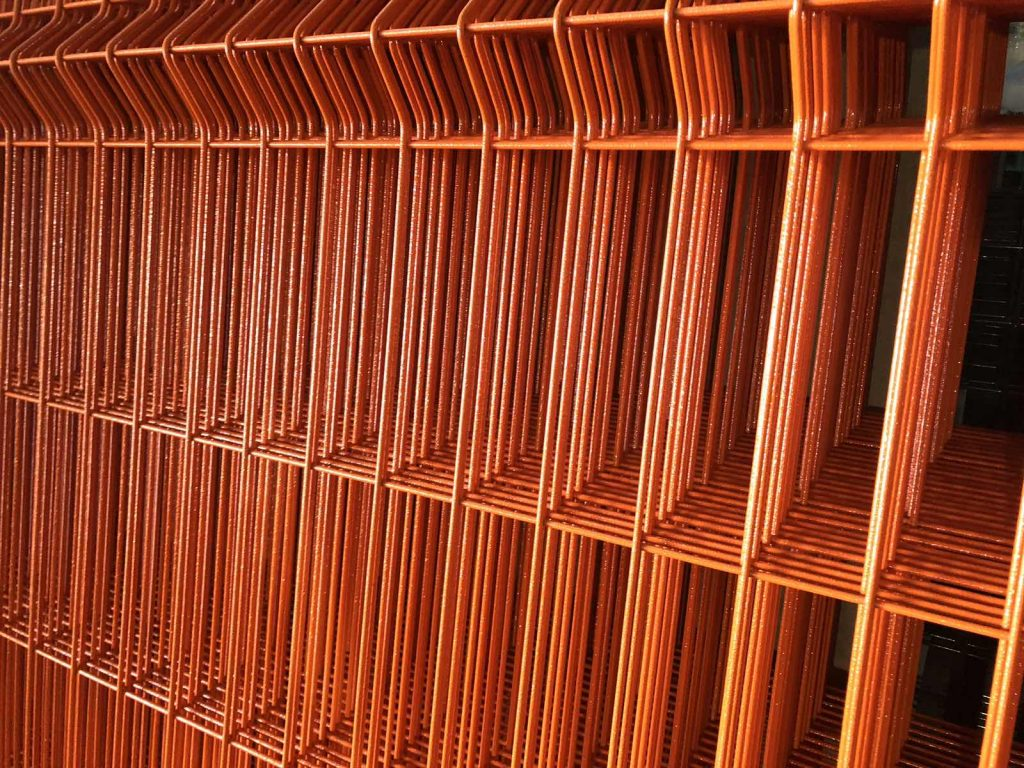сетка для ограждения оранжевый RAL 2004