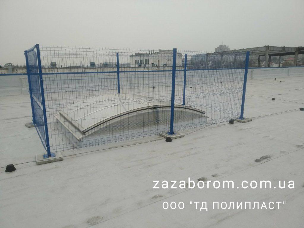 забор из сетки синий