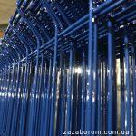 секции забора из сетки синие