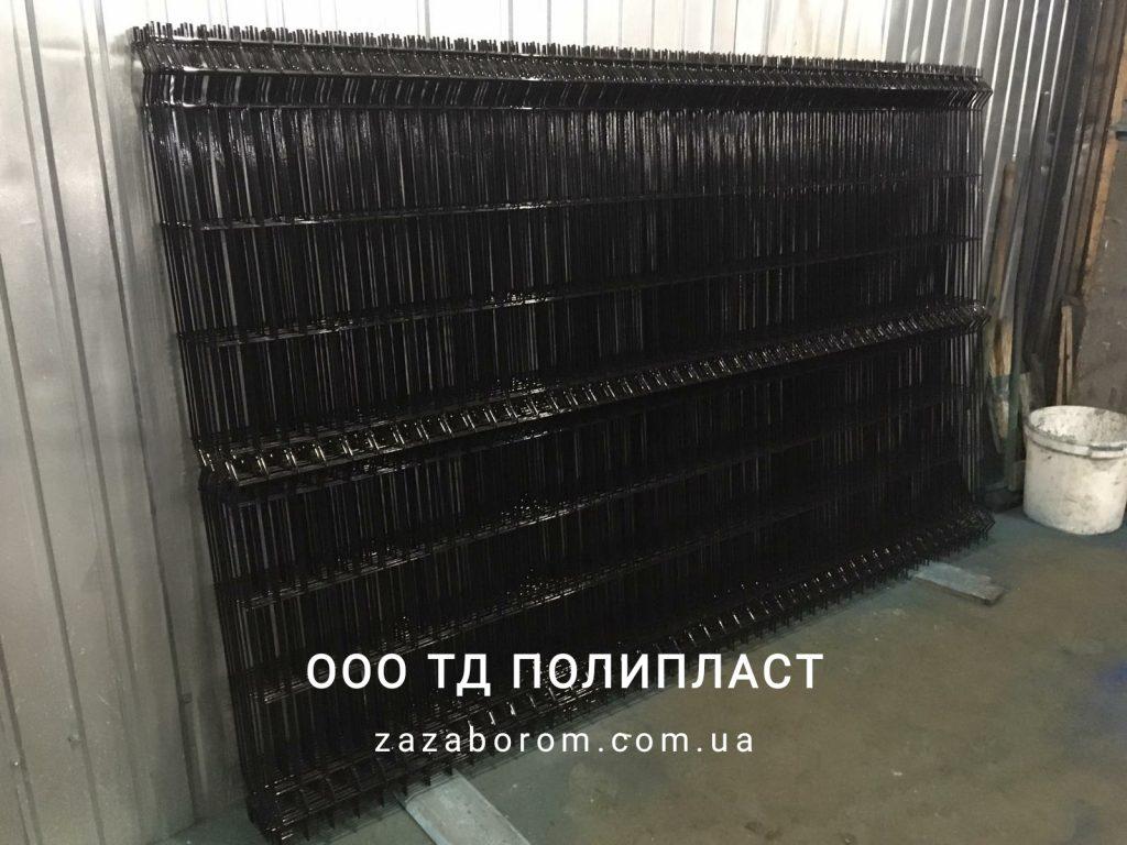забор из сетки черный цвет